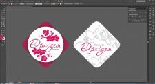 Дизайн стикеров для цветочного магазина